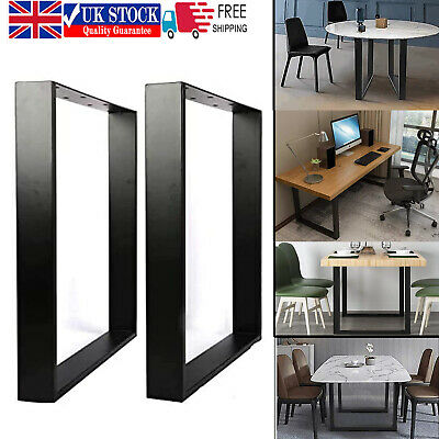 £21.22 • Buy 2X Industrial Black Metal Table Legs Steel Furniture Stand For Bench/Coffee Desk