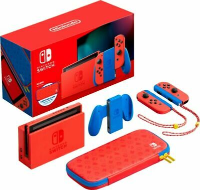 $ CDN441.32 • Buy NEW Nintendo Switch Console 32GB Mario Red & Blue Edition Bundle W/ Case