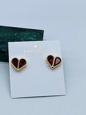$ CDN9.66 • Buy Kate Spade Red Stone Heart  Earrings