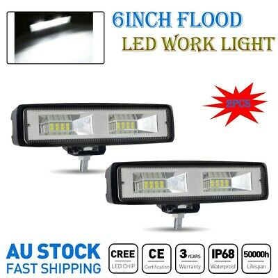 AU15.99 • Buy Light Pair 6inch Cree LED Work Light Bar Flood Beam Lamp Reverse Offroad 12V 18W