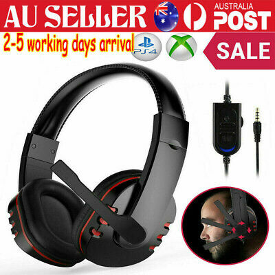 AU16.62 • Buy Gaming Headset Headphone With Microphone Volume Wired For Sony PS4 PlayStation 4