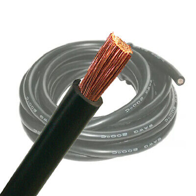 AU29.99 • Buy 6 B&S Single Core Black Battery Cable 5M Wire | 12V Auto Wiring | AWG Cable