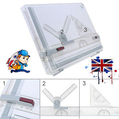£18.98 • Buy 1x A3 Drawing Board Technical Table Drafting Adjustable Angle Drawing Boards