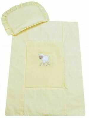 £15.06 • Buy Baby Bedding For Stroller 70x80cm Yellow 2in1 Set Cotton Pillow And Quilt Sheep
