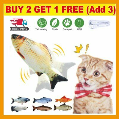 AU10.99 • Buy Electric Dancing Fish Kicker Cat Toy Wagging Realistic Moves USB Rechargeable