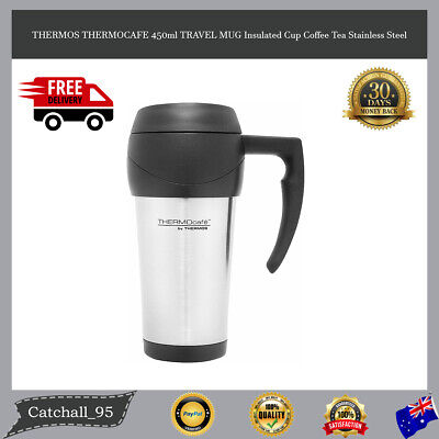 AU14.79 • Buy THERMOS THERMOCAFE 450ml TRAVEL MUG Insulated Cup Coffee Tea Stainless Steel
