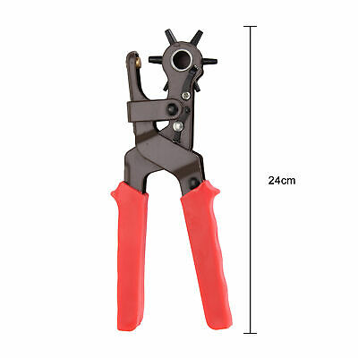 AU20.19 • Buy Leather Punch Pliers Heavy Duty Belt Hole Puncher 6 Size Universal Craft Tool