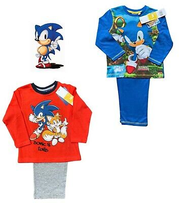 £6.79 • Buy Sonic The Hedehog Boys Cotton Trouser Pyjamas Ages 3 Years
