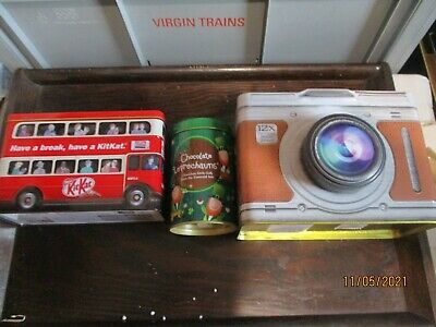 3 X Novelty Biscuit/sweet Tins • 1.50£
