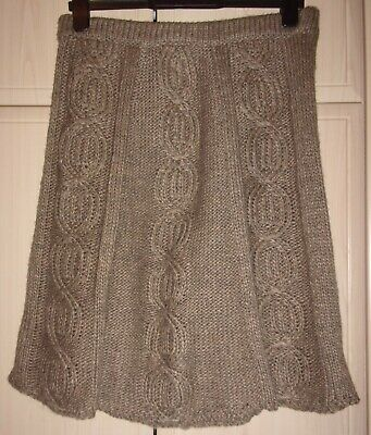 £5 • Buy 👀  Great Ladies Skirt By Zara. Brown Knitted. Size M (10/12).