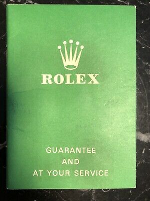 $ CDN1249.83 • Buy ROLEX GUARANTEE AT YOUR SERVICE Blank 1970 Vintage 5513 1675 6263 6239 1680