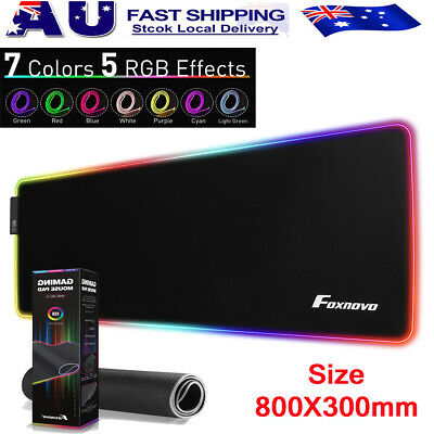 AU12.99 • Buy RGB LED Gaming Mouse Pad Desk Mat Extended Anti-slip Rubber Speed Mousepad AU