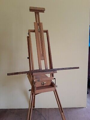 $299 • Buy Wooden Artist Travel Collapsable Easel W/ Oil Paints - ITALY -Vintage?
