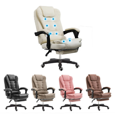 AU159 • Buy 8 Point Massage Chair Heated Executive Office Computer Seat Footrest Recliner Pu