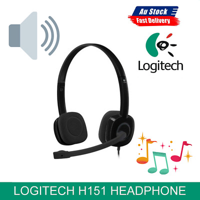 AU46.69 • Buy 1x Logitech H151 Stereo MIC In-Line Control Noise Cancelling Gaming Headset
