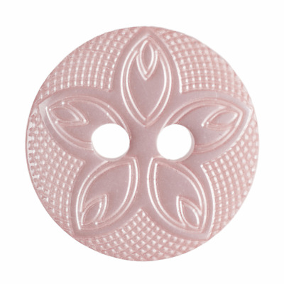 $2.97 • Buy 10 X Pink Etched Flower 2 Hole Round Buttons Baby Shirt Sewing Craft 12mm Q94