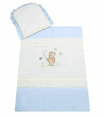 £15.07 • Buy Baby Nursey Bedding Set For Stroller 70x80cm Cotton Pillow With Quilt Teddy Bear