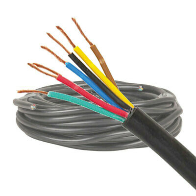 AU13.99 • Buy 7 Core 3.0mm Trailer Wire/Cable 1M Cut | 12V Automotive, Caravan, Truck, Boat