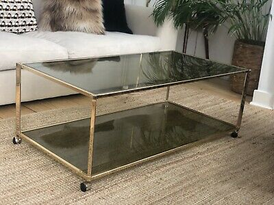 £220 • Buy Brass Frame Large Coffee Table