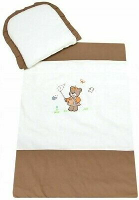 £15.07 • Buy Baby Nursey Bedding Set For Stroller 70x80cm Pillow With Quilt Brown Teddy Bears