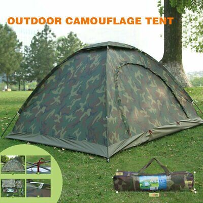 AU35.99 • Buy Fishing / Camping 2 Man Waterproof Two Person Dome Tent Camo - Camouflage