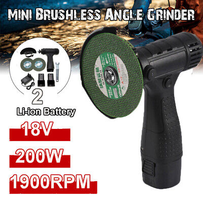 £34.99 • Buy Mini Cordless Angle Grinder Polishing Brushless Cutter+2 Battery&Charger +2 Disc