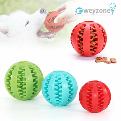 £3.89 • Buy Pet Toys Dog Rubber Ball Tooth Cleaning Food Dispenser Ball Cat Puppy Chew Toy