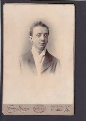 £3 • Buy Victorian Cabinet Card - Young Man - Photo Frank Martyn, Highbury