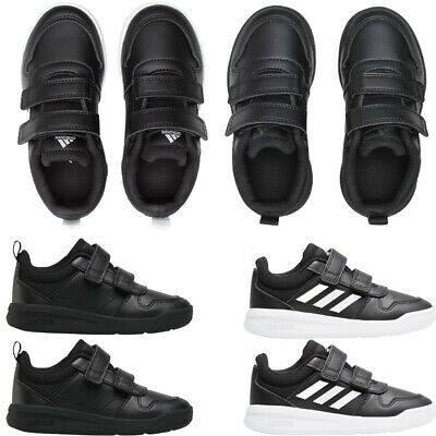 £22.98 • Buy Adidas Kids Boys TENSAUR School Shoes Black Trainers Casual Sneakers Strap Size