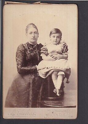£3 • Buy Victorian Cabinet Card - Mother & Daughter - Photo A. Glass, Windsor