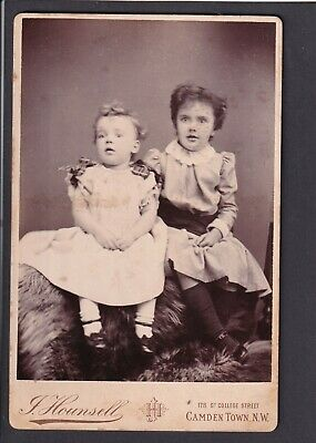 £3 • Buy Victorian Cabinet Card - Two Girls- Photo Hounsell, London Camden Town