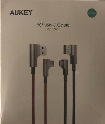 AU20.60 • Buy AUKEY USB C Cable 90 Degree Cable 6.6 Ft (2 Pack) (5267)