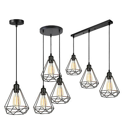 £16.89 • Buy Industrial Wire Cage Style Retro Ceiling Pendant Light Lamp Shade Metal Easy Fit