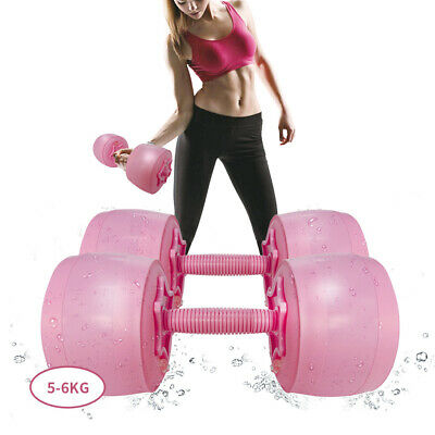 AU64.35 • Buy 6kg Adjustable Water Filled Dumbell Weight Set Barbell Home Gym Fitness Womans L