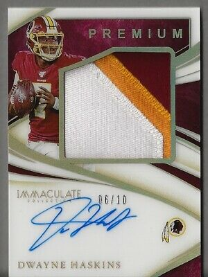 $ CDN91.08 • Buy 2020 Immaculate Dwayne Haskins Premium Patch Auto 6/10, Steelers