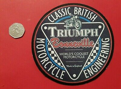£9.99 • Buy TRIUMPH BONNEVILLE CLASSIC BRITISH ENGINEERING BIKER LARGE 150mm BIG Sewon Patch