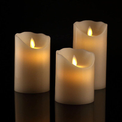 £17.54 • Buy Luminara Flickering Flameless LED Pillar Candles Moving Wick With Remote Timer