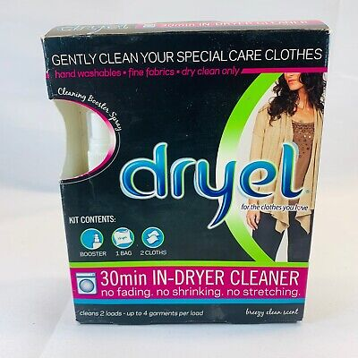 Dryel At-Home Dry Cleaning Starter Kit 30 Min In-Dryer Cleaner Original One • 9.74£