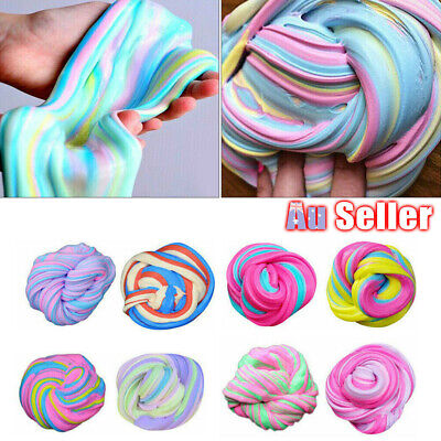 AU10.27 • Buy Colorful Floam Strechy Slimes DM Fluffy Rainbow Slime Stress Relief Toy NEW