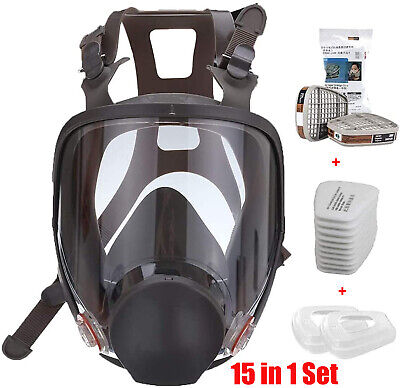 $41.98 • Buy 15 In 1 Facepiece Full Face Gas Mask Filter Respirator Painting Similar For 6800