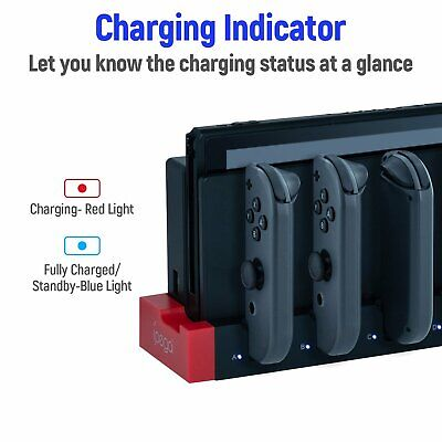 AU14.99 • Buy IPega 4 In 1 Controller Charging LED Dock Station For Nintendo Switch Joy-Con