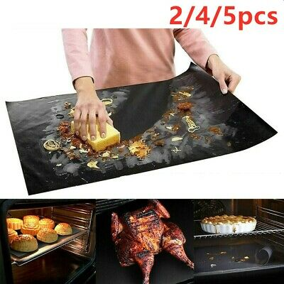 £4.99 • Buy Large Oven Liner BBQ Grill Mat Heavy Duty Non Stick Cooking Sheet Baking Tray UK