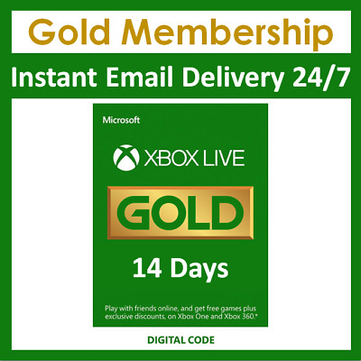 $ CDN3.38 • Buy Xbox Live 14 Day 2 Week Gold Trial Digital Code Instant Delivery (global)