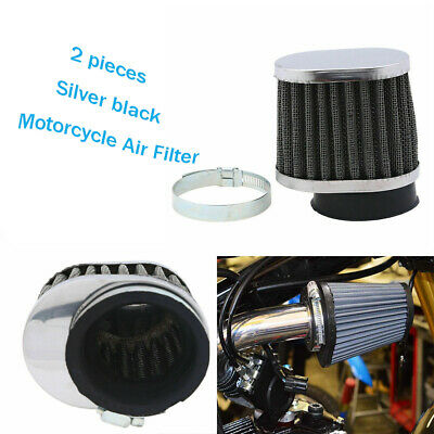 £9.95 • Buy 2PCS Universal 50mm Motorcycle Air Filter Intake Cleaner Pod Cone Style Racing