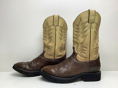 $ CDN26.68 • Buy Vtg Mens Justin Cowboy Work Brown Boots Size 8.5 D