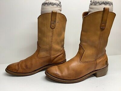 $ CDN26.68 • Buy Vtg Mens Unbranded Work Brown Boots  Size 9 D