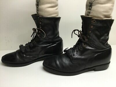 $ CDN26.68 • Buy Vtg Mens Justin Work Black Boots Size 8 D