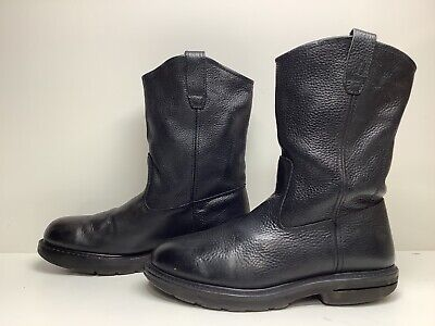 $ CDN23.04 • Buy Vtg Mens Wolverine Work Black Boots Size 11 Defects