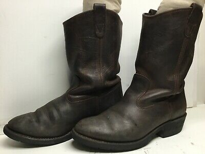 $ CDN26.68 • Buy Vtg Mens Double-h Work Brown Boots Size 8.5 D