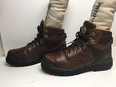 $ CDN48.51 • Buy Vtg Mens Georgia Steel Toe Eh Waterp. Work Brown Boots Size 12 M